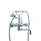 Смеситель для ванны (душевой комплект) Tradizionale Chromo Хром и Керамика двурычажный Boheme 273