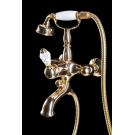 Смеситель для ванны (душевой комплект) CRYSTAL Золото одноручковый Boheme 283-CRST
