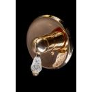 Смеситель встроенный CRYSTAL Золото одноручковый Boheme 285-CRST