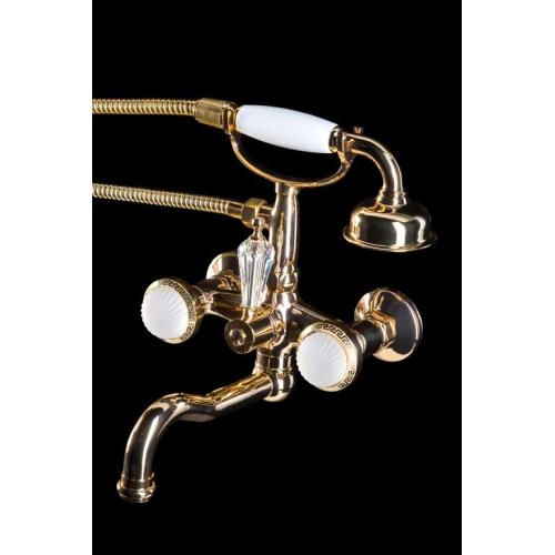 Смеситель для ванны (душевой комплект) SATINE Золото Boheme 293-ST