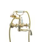 Смеситель для ванны (душевой комплект) Tradizionale Oro Золото и Керамика двурычажный Boheme 293