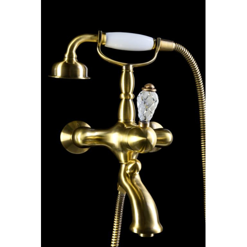 Смеситель для ванны (душевой комплект) CRYSTAL Бронза одноручковый Boheme 303-CRST