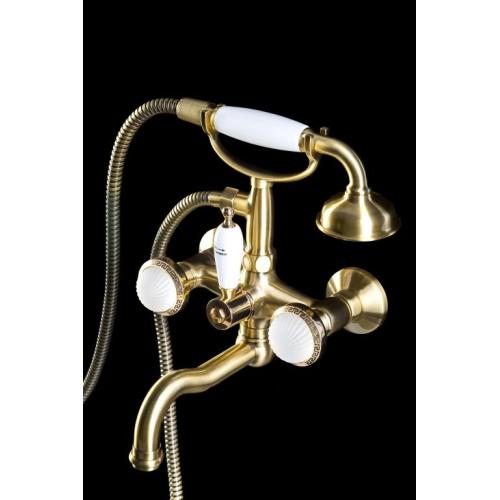 Смеситель для ванны (душевой комплект) SATINE Бронза Boheme 313-ST