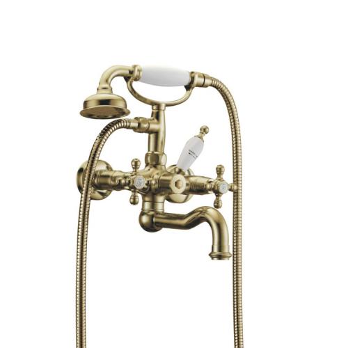 Смеситель для ванны(душевой комплект) Presente Бронза двуручковый Boheme 313