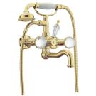 Смеситель для ванны (душевой комплект) Imperiale Presente ( Золото и Swarovski ) двуручковый Boheme 333