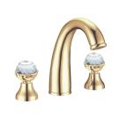 Смеситель для раковины на 3 отверстия Imperiale Presente (Золото и Swarovski) двуручковый Boheme 337