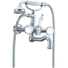 Смеситель для ванны (душевой комплект) Brillante Presente (Хром+Swarovski) двуручковый Boheme 353