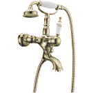 Смеситель для ванны (душевой комплект) Provanse Ripresa (Бронза и Керамика с Узором) однорычажный Boheme 363
