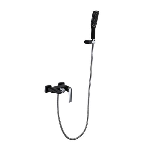 Venturo смеситель для ванны с душевым гарнитуром черный и хром Boheme 373-B