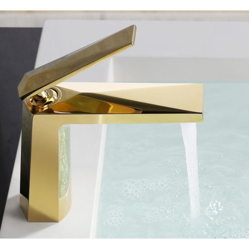 Venturo смеситель для умывальника золото Boheme 381