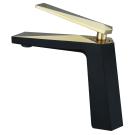 Venturo смеситель для умывальника черный и золото Boheme 381-B
