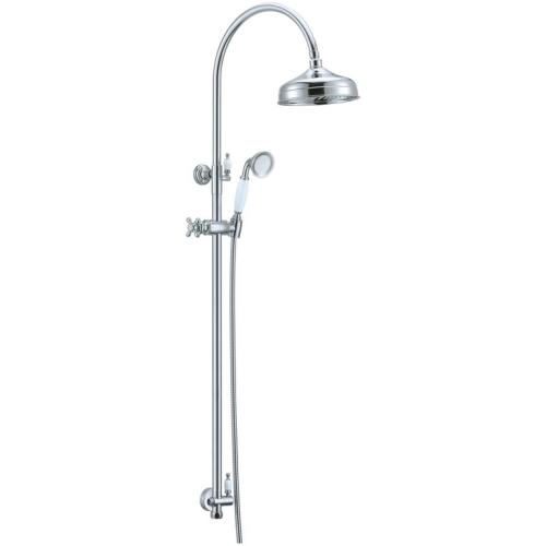 Стойка с верхним душем (25 см) Brillante Boheme 403 хром
