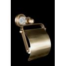 Держатель для туалетной бумаги с крышкой MURANO CRYSTAL Бронза Boheme 10901-CRST-BR