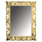 Зеркало прямоугольное золото 97х70 (Массив дерева) Boheme 515