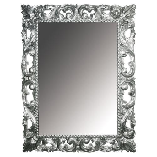 Зеркало прямоугольное серебро 97х70 (Массив дерева) Boheme 516