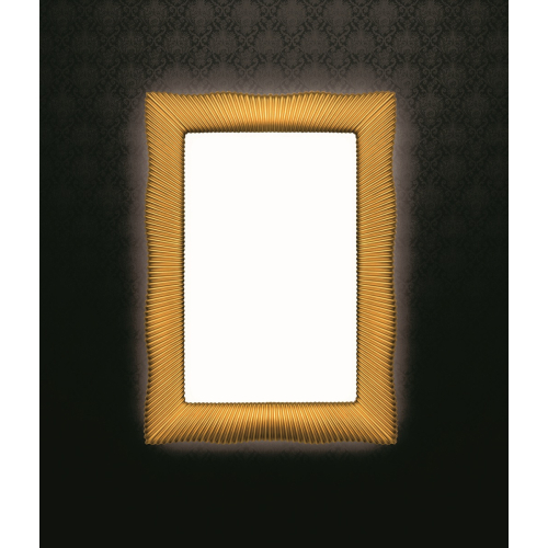 Зеркало прямоугольное с подсветкой золото 80x120 Boheme 521