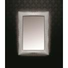 Зеркало прямоугольное с подсветкой серебро 80x120 Boheme 522
