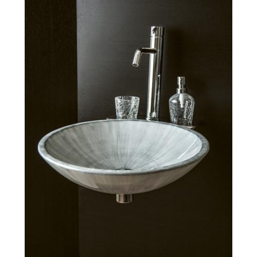 Раковина-чаша серебряная стекляная Boheme 806