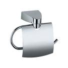 SOLO Держатель для туалетной бумаги с крышкой хром
