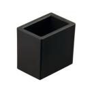 Стакан настольный QU051 черный/хром