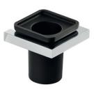 Стакан настенный QU009 черный/хром
