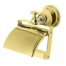 Бумагодержатель с крышкой HA219 золото/бел