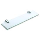 6740.4 Полочка стеклянная 60 см нержавеющая сталь