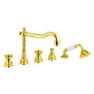 Bugnatese Смеситель REVIVAL для ванны золото длинный носик