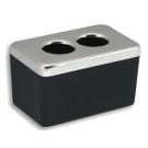 6422.5 Контейнер для ватных дисков чёрное стекло хром