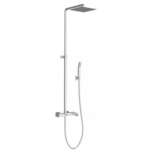 BelBagno ARL-DOCM-CRM Душевая колонна со смесителем для душа с верхним и ручным душем