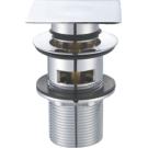 BelBagno BB-PCU-07-CRM Донный клапан с системой Клик-клак с переливом с квадратной крышкой