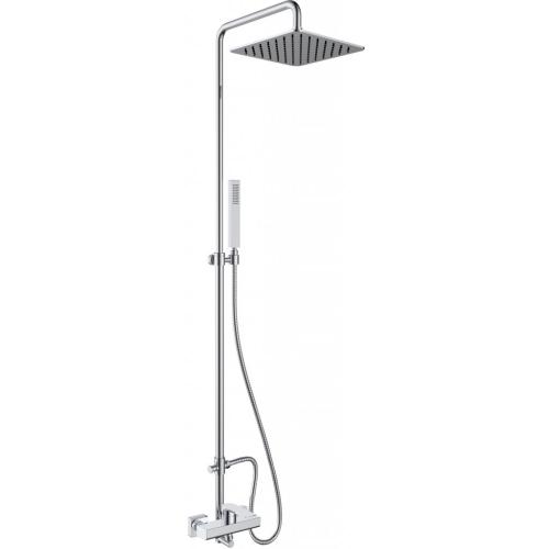 BelBagno CAR-DOCM-CRM Душевая колонна со смесителем для душа с верхним и ручным душем