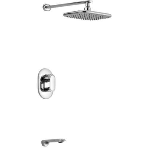 BelBagno FER-DIT-CRM Встраиваемый смеситель для душа с переключателем изливом и верхним душем
